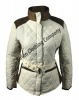 Jess Suede Quilted Jacket White