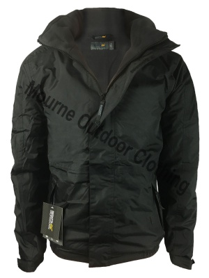 Custom Regatta Waterproof Jacket Black