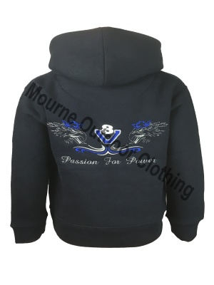 Kids Cottonridge King Of The Road V8 Hoodie Navy