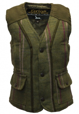 Kids Tweed Gilet Pink