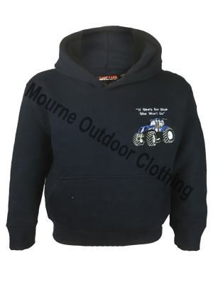 Kids Cottonridge New Holland Tractor Hoodie Navy