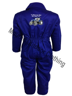 Kids New Holland Tractor Overalls Blue