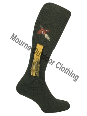 Jack Pyke Pheasant Socks with Garters Green