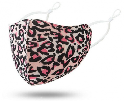 Fashion Face Mask Pink Leopard Print