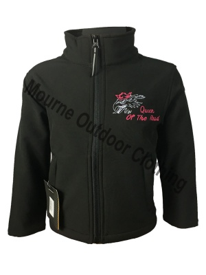 Kids Regatta Queen Of The Road V8 Softshell Jacket Black