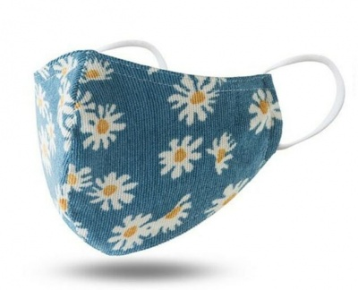 Fashion Face Mask Turquoise Flower Print