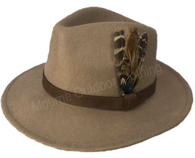 House Of Tweed Fedora Hat Camel