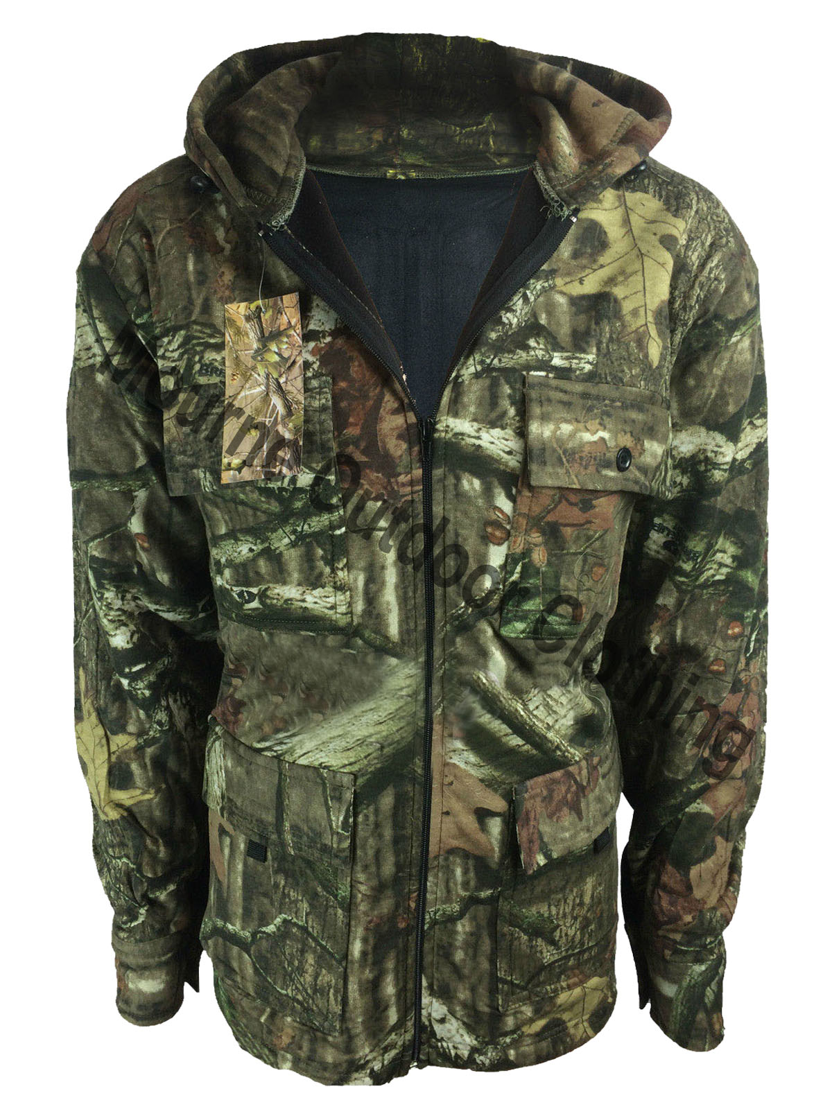 Realtree Camouflage Hooded Hunting Jacket