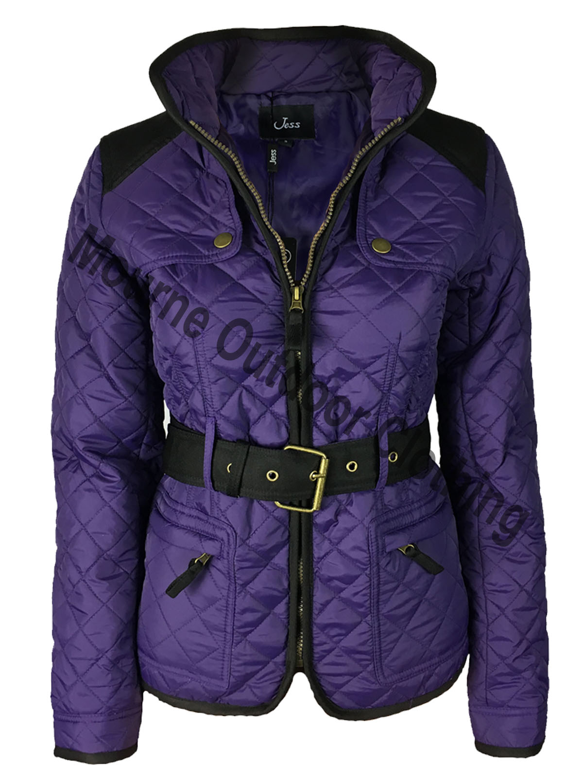 Jess Quilted Jacket Purple