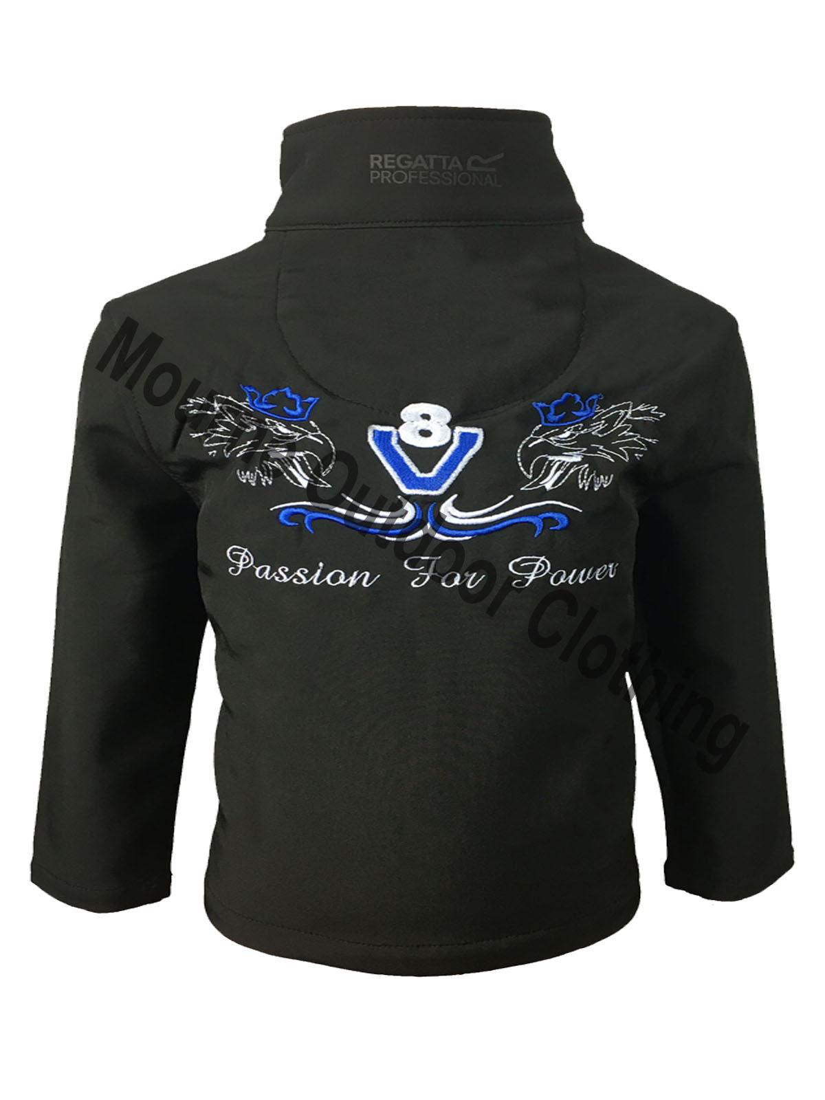 Kids Regatta King Of The Road V8 Softshell Jacket Black