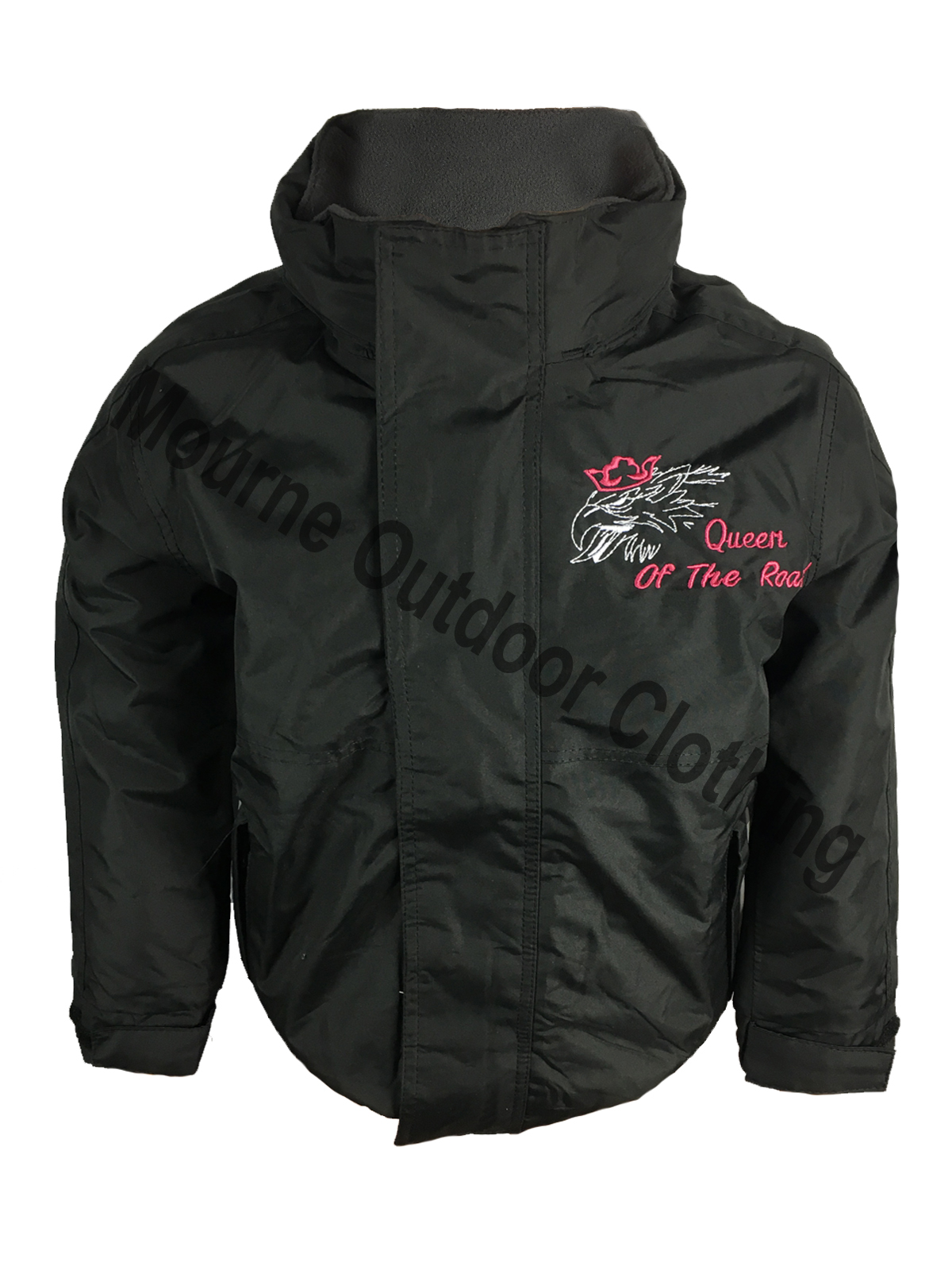 Kids Regatta Queen Of The Road V8 Waterproof Jacket Black
