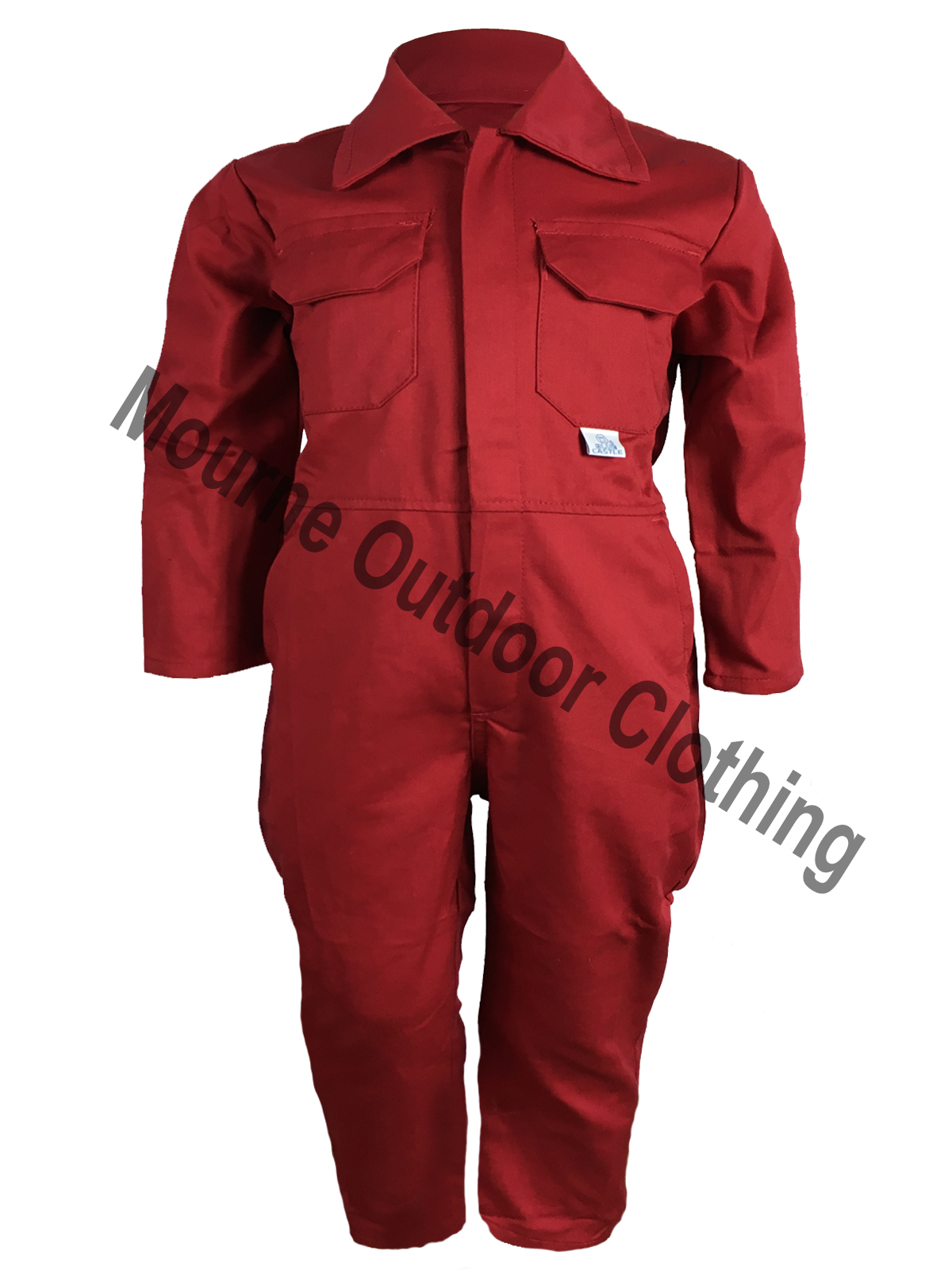 Kids Castle Overalls Red