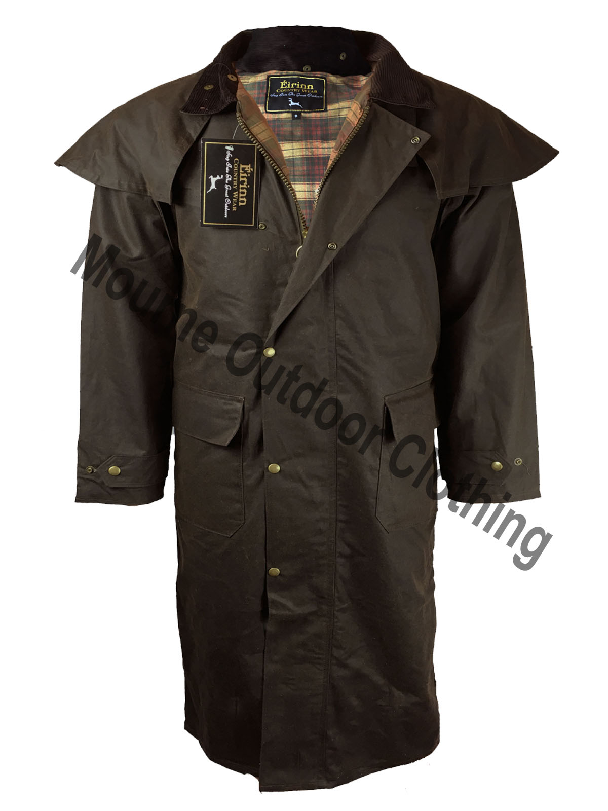 Stockman Cape Wax Jacket Brown