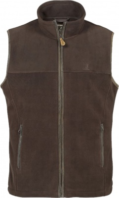 Percussion Scotland Fleece Gilet Brown