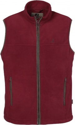 Percussion Scotland Fleece Gilet Burgundy