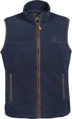 Percussion Scotland Fleece Gilet Navy