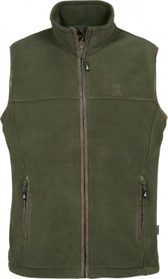 Percussion Scotland Fleece Gilet Olive